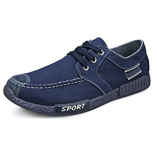 CUSTOME Homme Chaussures Toile Appartement Glisser sur Doux Mode Respirant Loisir Poids léger Confortable Chaussures Flâneurs