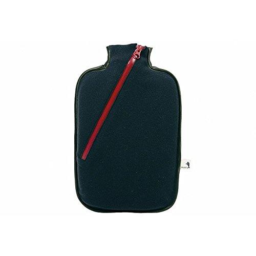 Hugo Frosch Wärmflasche Öko Klassik Comfort, Softshell, Reißverschluss schwarz Made in Germany