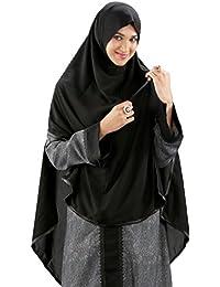 Parvin Women's Georgette Hijab (Black, 40)