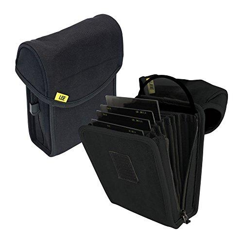 LEE Filters Field Pouch Black Filtertasche für bis zu 10 Filter aus dem 100mm-System - z.B. für Grauverlaufsfilter - Schwarz (Lee Filterhalter 4x6)