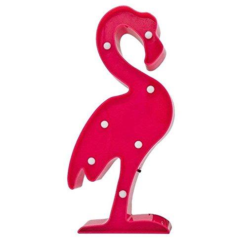 QIANGUANG Nachtlichter Schlummerleuchten für Kinder Urlaub Geschenk Dekoration süß 3D Stimmungslichter Schreibtischlampe Wandlichter LED Nachtlampe Wohnen Möbel Wohnaccessoires(Flamingo)