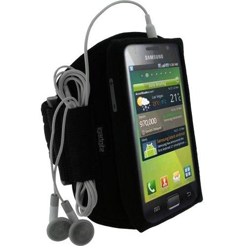 iGadgitz-Water-Resistant-Neoprene-Sports-Gym-Jogging-Armband-for-Samsung-Galaxy-S-i9000-Black