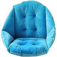 Plush Seat Cushion, Soft Premium Cushion Pads Back Support Cushion Pillow for Car, Office Chair, Wheelchair for Hip Back Sciatica Relief Pain (Blue)