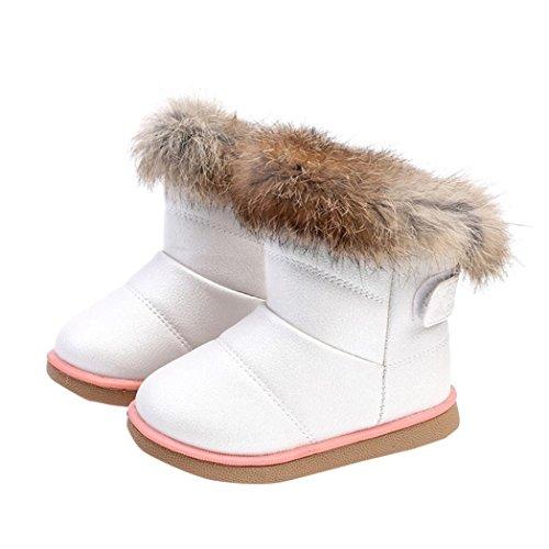 Bild von HUHU833 Kinder Mode Mädchen Baby Stiefel, Warme Watte Gepolsterten Schuhe Kaninchen-Haar Dicker Schnee Stiefel Warm Schuhe