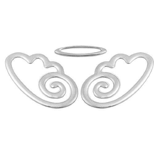 sourcingmap Fahrzeuge Auto Metall Angel Einrichtungsstil Abzeichen Emblem Logo Silber Ton DE