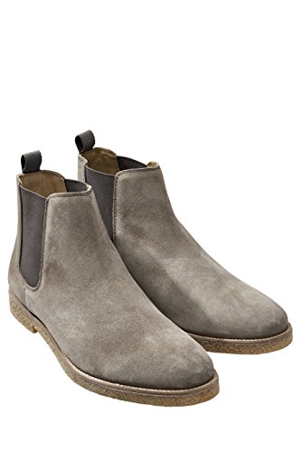 next Herren Chelsea Stiefel Veloursleder Stiefeletten Freizeit Boots Grau UK 12 EU (Herren Next Stiefel)