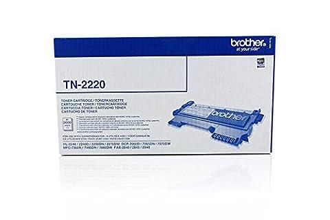 BROTHER TN2220 original Toner schwarz fuer HL-2240 2240D 2250DN 2270DW MFC-7360N,-7460DN,-7860DW, DCP-7060D 2600 Seiten