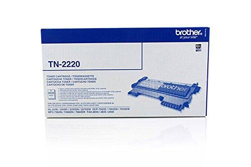 Preisvergleich Produktbild BROTHER TN2220 original Toner schwarz fuer HL-2240 2240D 2250DN 2270DW MFC-7360N,-7460DN,-7860DW, DCP-7060D 2600 Seiten NEU