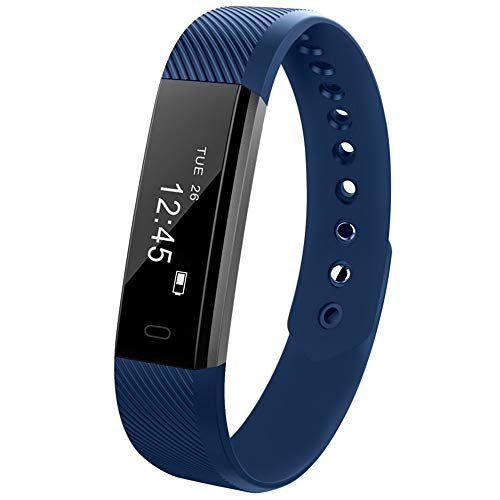 Yallylunn Bluetooth Smart Watch Bracelet Wristband Pedometer Sport Fitness Tracker Id115 Einfach Ultraschlank Dank Der Doppelten Chipsatz Konstruktion