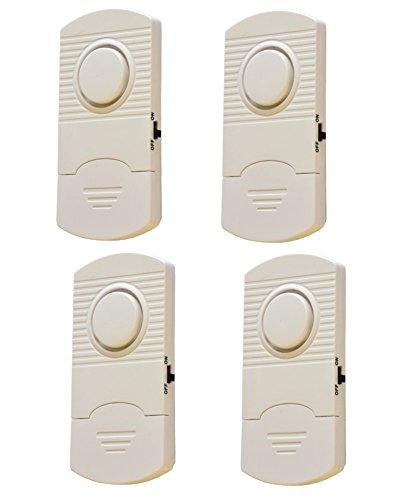 4er Set Fenster und Türen Vibrations Alarm Sicherheitsalarm 90 DB laut Champs Tür