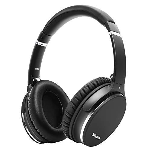 Casque Bluetooth sans Fil V5.0 à Réduction de Bruit Active Léger et Pliable, harge Rapide avec Mic CVC8.0, Méga Basse, 40H de Jeu, Faible Latence - Srhythm Version NC35 (Gun-Noir)