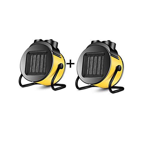 Radiateurs électriques CJC Électrique Chaufferettes Ventilateur Pack De 2 Portable PTC Céramique 2000W Thermostat Sécurité Couper