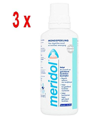 Preisvergleich Produktbild 3 x Meridol Mundwasser / Mundspülung - 400 ml