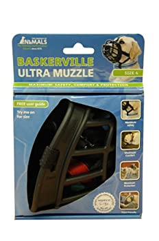 Baskerville Muselière pour Chien Ultra Noir Taille 4 (14,2 X 14 X 10,2 cms)