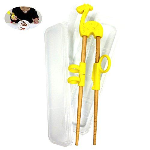 Diseño perfecto: Puede ser utilizado con la mano izquierda o derecha, puede ayudar a los niños a aprender a utilizar los palillos.  Atención: Apto para niños de 2 a 11 años. Por favor, use para la supervisión de adultos, el producto contiene pequeñas...