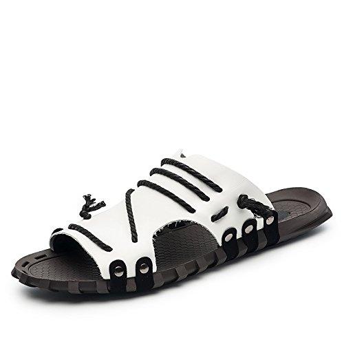 Bianche Xgz7551 Grandi Xing Uomini Lin Estate Pantofole Degli Sandali Scarpe Estive Parola Nuova w8vqwg76