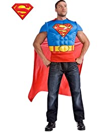 Rubies Costume Co R880530-STD Mens Adult Superman Muscle Chest Kost-m Top STANDARD