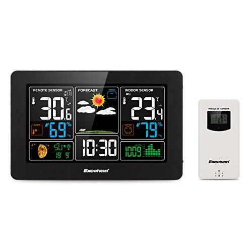 Excelvan PT3388 Estación Meteorológica con Pantalla LCD, Sensor Inal