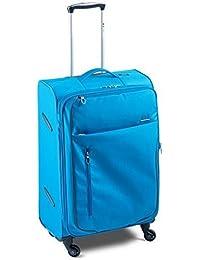 Maleta de-Ultralight solo 2,9kg-Volumen: 100/115-80x 47x 32-35cm, Italiana. Diseño (Meta de cr de 425101) - azul scuba, 80x47x32-35 cm