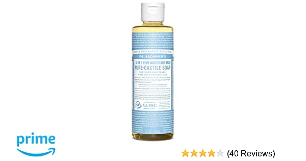 Dr  Bronner's Aloe Baby Castile Soap Made with Organic Ingredients 236 ml