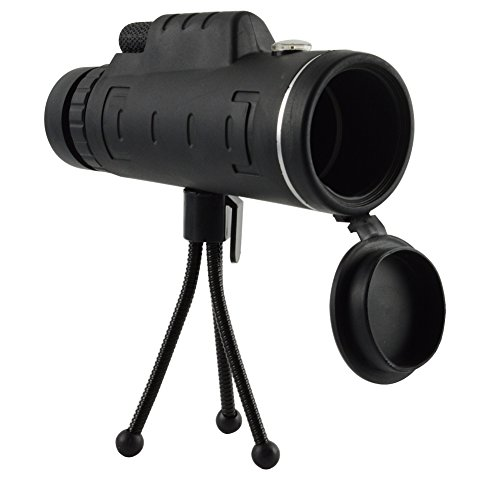 Kashine HD Telescopio Monocular 40x60 Prismáticos Bak4 40 Aumentos Enfoque Dual Zoom óptico Impermeable para Observación de Aves concierto con libre trípode