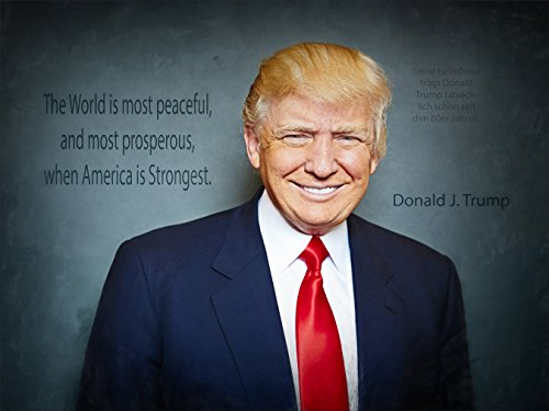 Kunst Druck US Präsident Donald J. Trump, America Great Again Tapete Mousepad Acrylglas Alu-Dibond Aufkleber (32 x 24 cm, Mousepad Rutschfest)