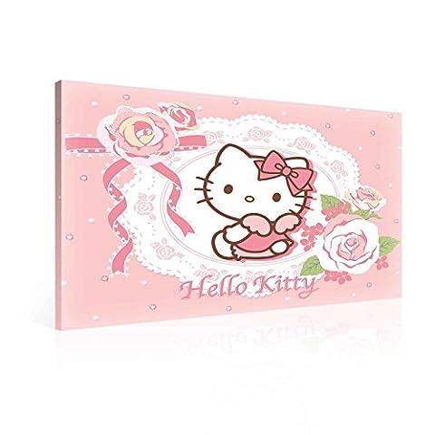 Hello Kitty Leinwand Bilder (PPD639O6FW) - Wallsticker Warehouse - Size O6 - 80cm x 60cm - 230g/m2 Canvas - 1 Piece
