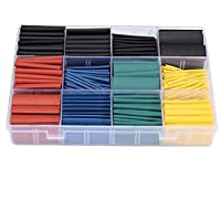 530pcs/set Heat Shrink Tubing Insulation Shrinkable Tube Assortment Electronic Polyolefin Ratio 2:1 Wrap Wire Cable Sleeve Tubes Kit