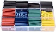 530 قطعة /مجموعة أنابيب عزل حرارية متنوعة إلكترونية حافظة قابلة للانكماش من البولي أوليفينات بنسبة 2:1 من أجل