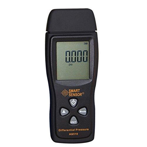 Jusheng Manometer Digitale luftdruck Differenzdruckmesser 0-100 hPa/0-45.15 in H2O digitale negative vakuumdruckmesser mete AS510