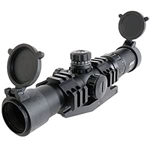 In three colors such as SCAR ANS Optical 1.5-4x30 CQB Mil-Dot Illuminating Ted short zoom rifle scope tri-rail mounting set Illuminator (japan import)
