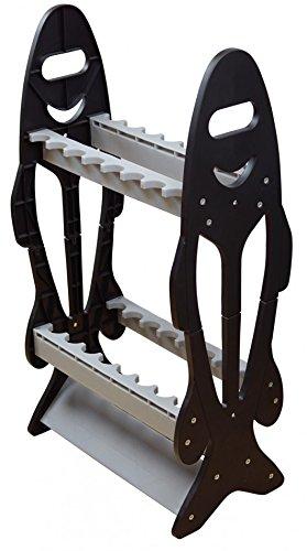 Angeln Rutenständer für 16 Ruten Regal Rutenablage Rutenhalter Standrutenständer