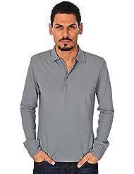 Kangra Polo Poloshirt Un sólo Color Gris 50