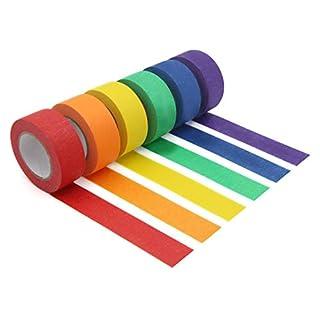 Buntes Abklebeband, dekorativ, farbiges Klebeband für Kunst und Handwerk, Beschriftung oder Codierung – Kunstbedarf für Kinder – 2,5 cm Abdeckband