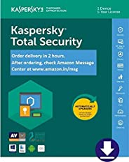 Kaspersky Total Security 2020 Latest Version - 1 User, 1 Year (Email Delivery in 2 hours- No CD)