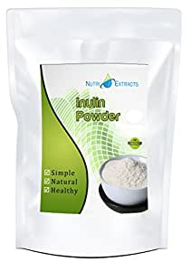 Inulin Powder Fibre Prebiotic Powder | 250g | FOS Chicory root lower blood cholesterol, Better Energy, Increases Calcium Absorption, fibre Boost Heart Health, Vegan & Vegetarian by NutriExtracts