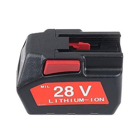 Vinteky® 28V 3000mAh Li-ion Batterie d'Outil Remplacement Pour 48-11-1830,48-11-2850,48-11-2830,0700956730 pour Milwaukee M28™ V28™,HD28 cordless power tools