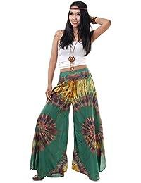 Extrem weite Hippie Batik 70er Jahre Party Hose Schlaghose 36 38 40 S M