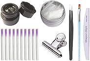 Minkissy 16 pcs Extension Nails Gel Kit Fiber Nails Glass for Nail Building Quick Extension Nails Phototherapy