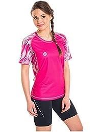 Nessi Damen T-Shirt DK Laufshirt Fitnesshirt Atmungsaktiv Rosa