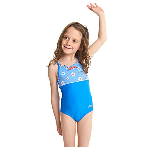 Zoggs Mädchen Holiday Classicback Badeanzug, Blue/Multi, 116