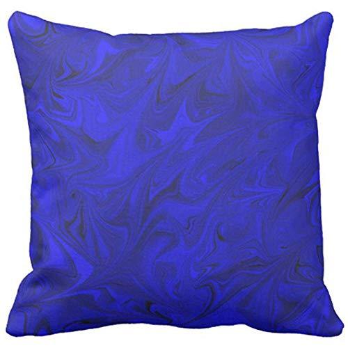 Dekorative Kissenhülle Kissenbezug Cobalt Marble Pattern Royal Indigo Blue Decorative Abstract Home Decor Square 45 x 45 cm Cushion Pillowcase Royal Blue Marble