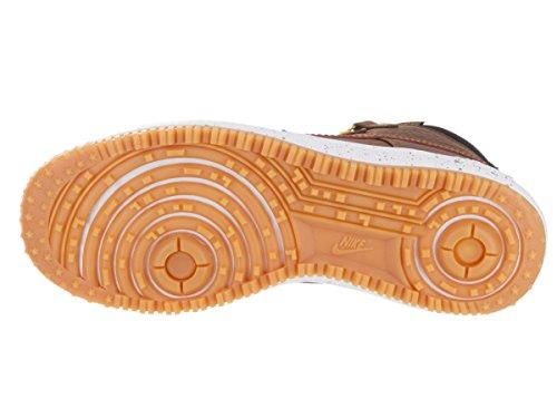 timeless design 0b848 1c30c Nike Lunar Force 1 Duckboot, Chaussures de SportBasketball Homme, 9,5 UK    44,5 EU   10,5 US Noir   marron   jaune   blanc noir   tan anglais clair  light ...