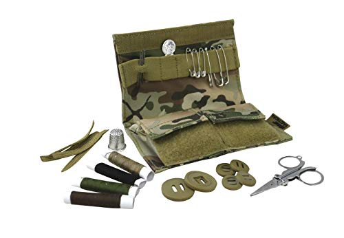 Army Tactical Military S95 Sewing Kit 600d Tac-poly Repair Kit BTP Camo Travel Pocket Field Camping