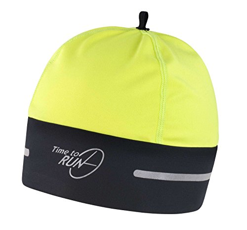 Time to Run Cappello Termici Da Running Nero/Giallo