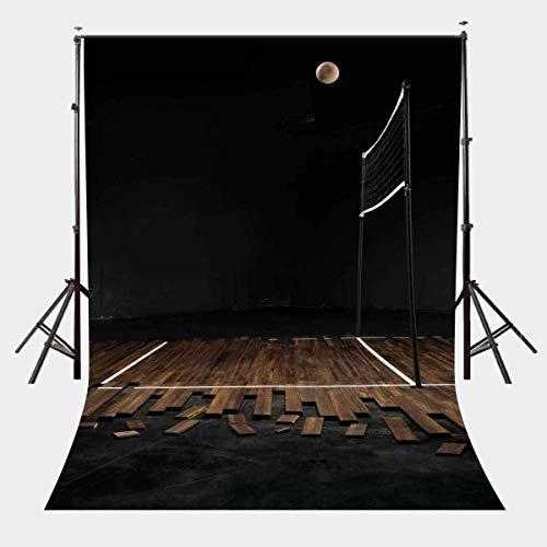 GzHQ 5X7ft Sport Thema Hintergrund Holzboden Volleyball Spiel Gericht Hintergrund Studio Requisiten LYGE532