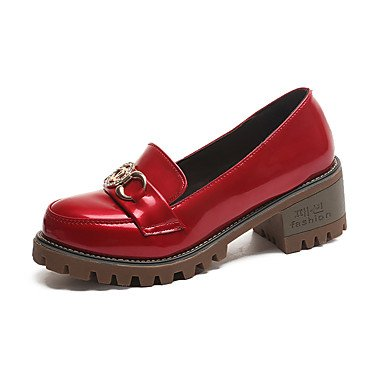 Rtry Femmes Talons Chaussures Formelles Confort Pu Automne Casual Office & Amp; Carrière Formel Chaussures De Marche Confort Rhinestone Chunky Heelruby Talon Bas Us5.5 / Eu36 / Uk3.5 / Cn35