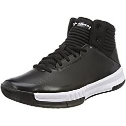 Under Armour UA Lockdown 2, Zapatos de Baloncesto, Hombre, Negro (Black 001), 45 EU