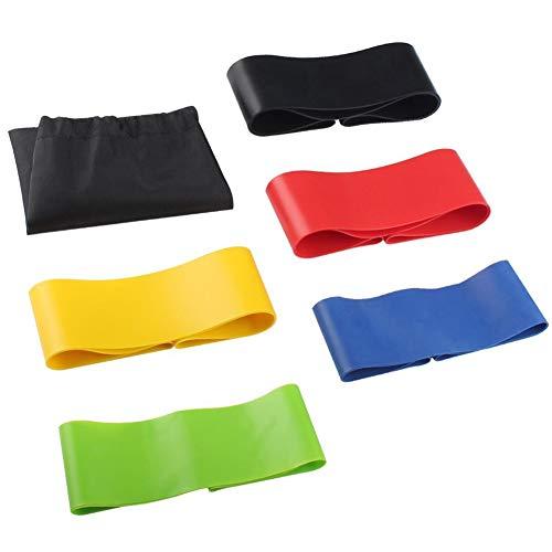 Yililay Widerstand Übungsbänder Loop - Set von 5 - ideal für die zunehmende Mobilität und Stärke, Yoga, Pilates oder Home Fitness - Hergestellt aus Naturlatexmaterial Multifarbe Fitness Zubehör