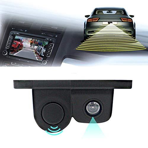 41o dXFGY7L - Luckiests 2 en 1 Auto estacionamiento del sensor del sonido de alarma del revés del coche del vídeo de copia de seguridad del coche granangular de alta definición marcha atrás cámara de visión trasera